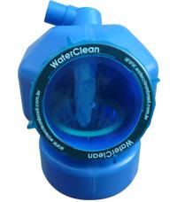 Corte da Caixa de Gordura Ecológica WaterClean, mostrando o filtro